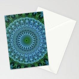 Blue and green mandala Stationery Cards