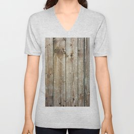 Rustic Wooden Plank Texture Unisex V-Neck
