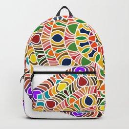 Elements forming a symmetrical mandala Backpack