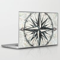 kerouac Laptop & iPad Skins featuring Live Travel Adventure Bless by Jenndalyn