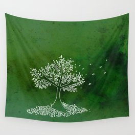 Wind Green  Wall Tapestry