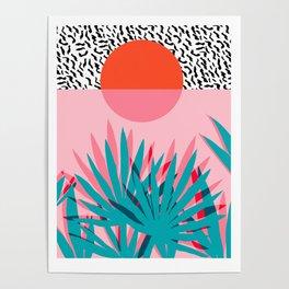 Whoa - palm sunrise southwest california palm beach sun city los angeles retro palm springs resort  Poster