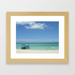 Glass Bottom Boat in Negril Framed Art Print