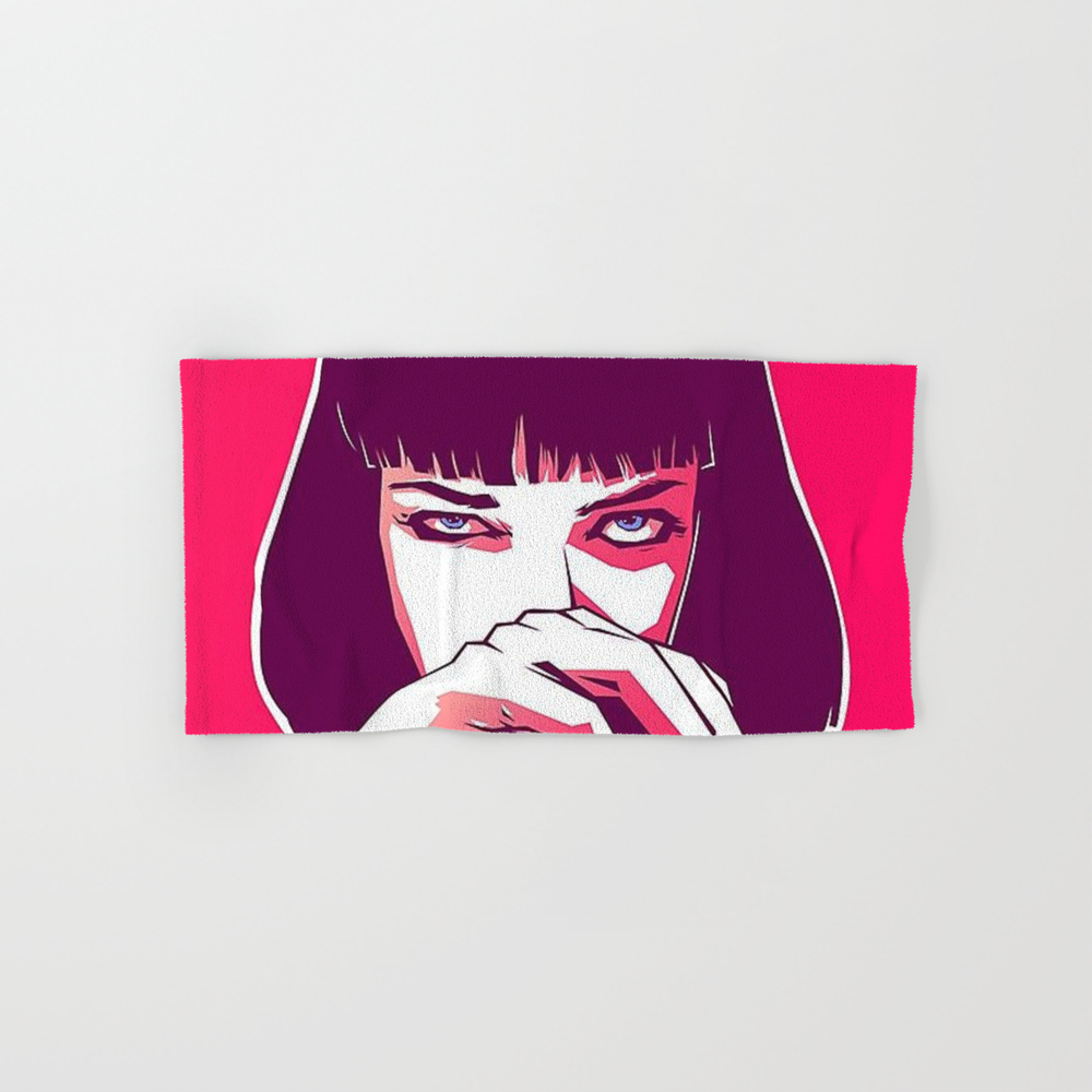 Pulp Fiction Mia Wallace Hand Towel by Prodesigner2 BTL8670977