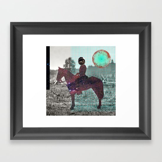 Space Lord Collage Framed Art Print