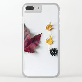 Fall in Words Clear iPhone Case