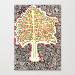 Tree of Doodles Canvas Print