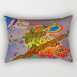 The Bonkers Bird Rectangular Pillow