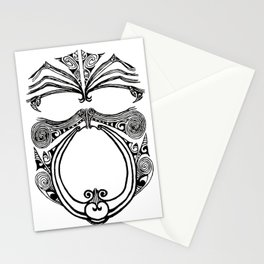 Black and white moko Stationery Cards