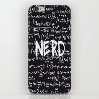 nerd iPhone & iPod Skins featuring Nerd by ALLY COXON