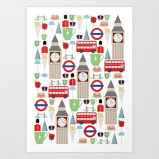 London Pattern Art Print