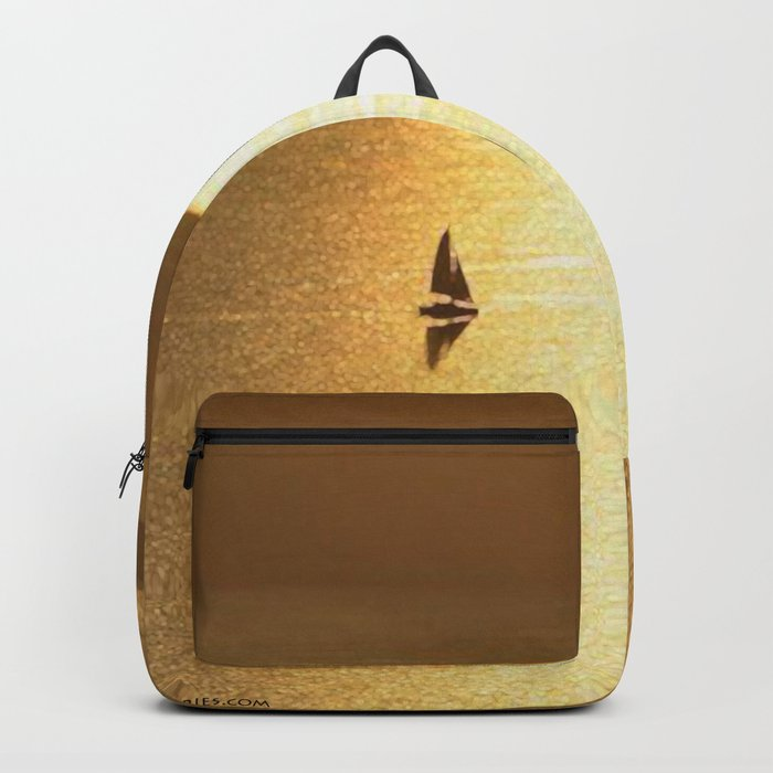 Sailing on a Golden Sea Backpack