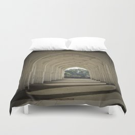 Arched colonnade Duvet Cover