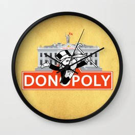 Donopoly: Why buy Park Place or Boardwalk when you can buy Pennsylvania Avenue! Wall Clock