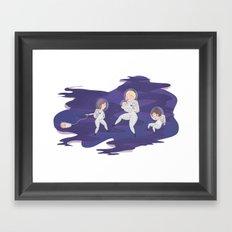 Space Walk Framed Art Print