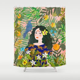 Boho Lady Shower Curtain