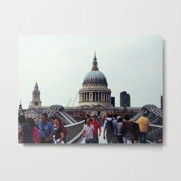 St. Paul's over Millenium Bridge Metal Print