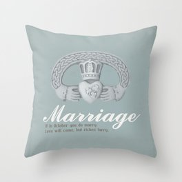 Married in October Throw Pillow