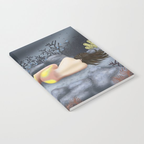 Sleeping Mermaid Notebook