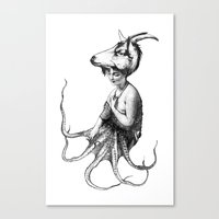 capricorn Canvas Prints featuring capricorn by Carolina Espinosa