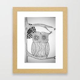 TangleArt Owl by  Arlette Framed Art Print