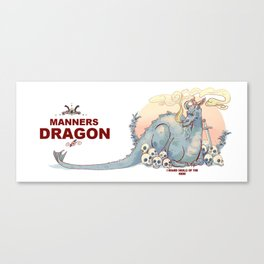 manners dragon Canvas Print