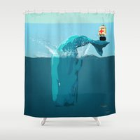 moby Shower Curtains featuring moby  by mark ashkenazi