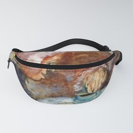 Gossipy, Humpback Old Lady's telling old stories to Herbert by Lajos Gulácsy Fanny Pack