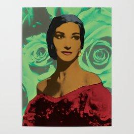 Maria Callas in Aqua Green Poster