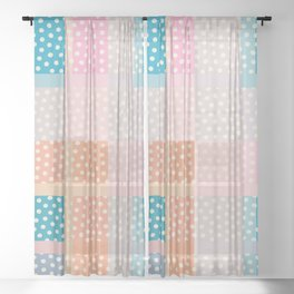 Dots and Stripes 3 Sheer Curtain