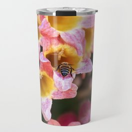 Tangerine Beauty Cross Vine with a Bumblebee Travel Mug