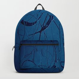 Navy Blue - Jackson Pollock Style Art - Abstract - Expressionism - Modern Backpack