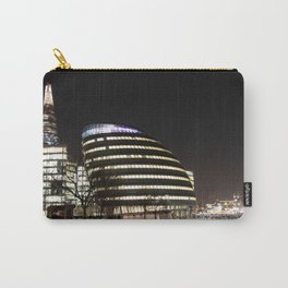 City Hall and The Shard skyscraper at night, London, England  Carry-All Pouch