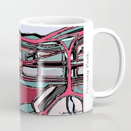 Abstract Map- Fenway Park Coffee Mug
