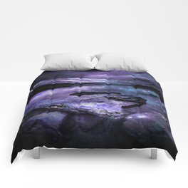 Magical Mountain Lake Purple Teal Comforters