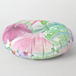 Malia's Tropical Print Floor Pillow