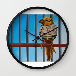 I Know Why The Caged Bird Doesn't Sing Wall Clock