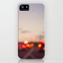 highway at dusk iPhone Case