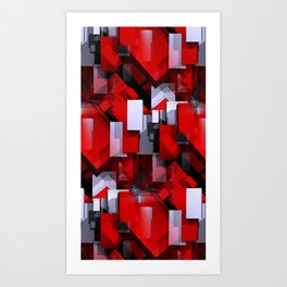 time for crazy patterns -103- Art Print