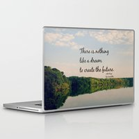 les miserables Laptop & iPad Skins featuring Dream to Create the Future Les Miserables Quote by KimberosePhotography