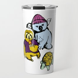 sloth koala turtle squad Travel Mug