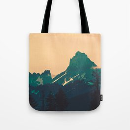 Cascade Mountains Sunset Tote Bag