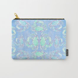 Watercolor blue crab Carry-All Pouch