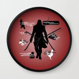 Assassin's Creed - Black Flag Quotes Wall Clock