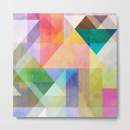 Color Blocking 1 Metal Print