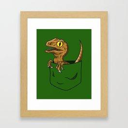 Pocket Raptor (Jurassic Park Velociraptor) Framed Art Print