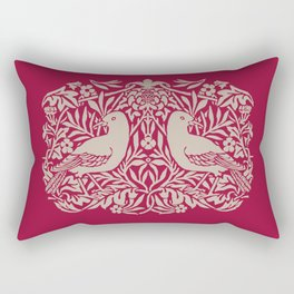William Morris Style Victorian Birds Rectangular Pillow