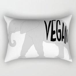 vegan (elephant)  Rectangular Pillow