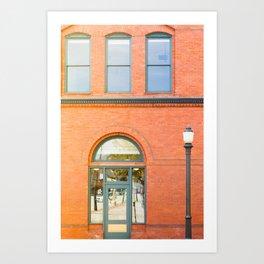 Street photography brick building afternoon II Art Print