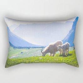 Goat Series, V Rectangular Pillow